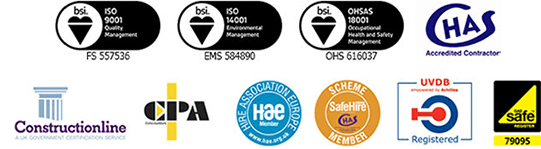 Watkins Hire Accreditations