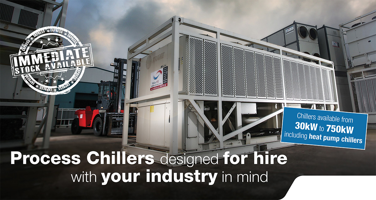 Process Chillers designed for hire