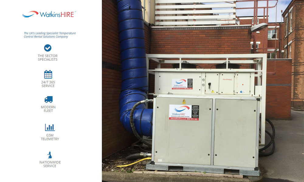 Watkins Chiller Hire provides another hospital with temporary cooling