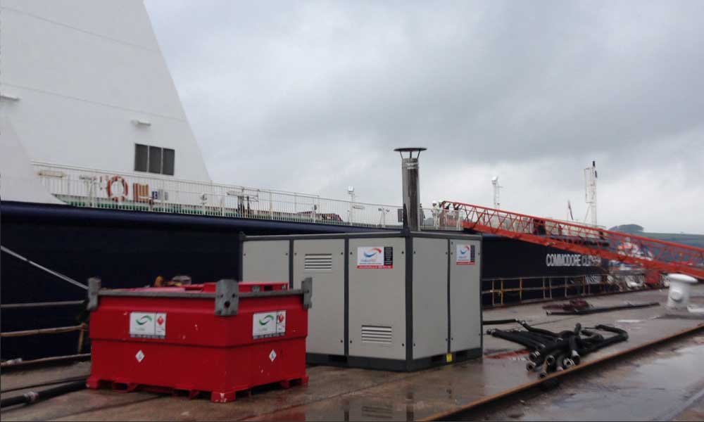 Watkins Hire Boiler maintains heating for ship's crew