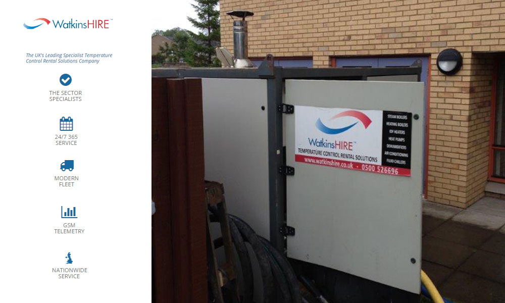 Watkins Hire Boiler Package maintains critical service to care home